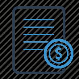 bill, checkout, invoice, purchase, receipt, report, sales icon