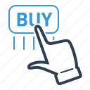 buy, checkout, click, online payment icon