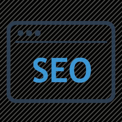 browser, marketing, optimization, search engine, seo, service, web icon