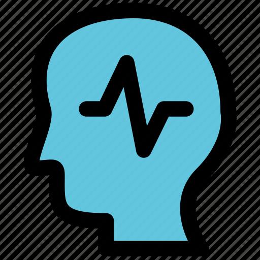 epilepsy, head, health, illness icon