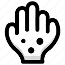 hand, health, illness, measles icon
