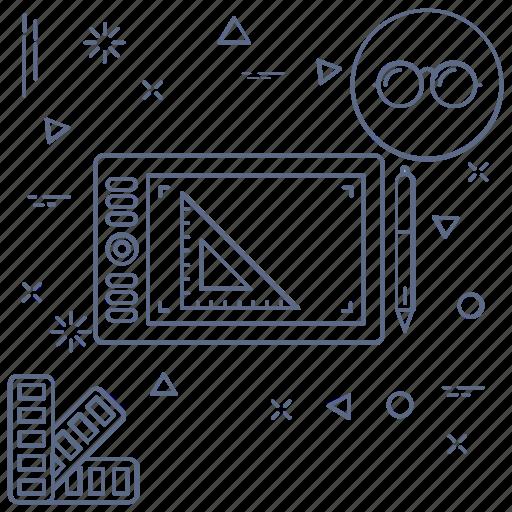 design, digital, draw, graphics design, illustration, tablet icon