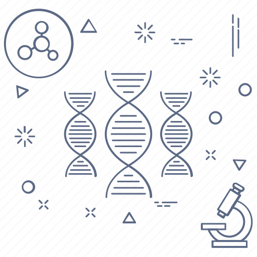 biology, dna, medicine, sctructure icon