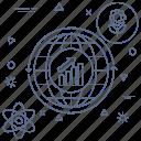 atom, business, earth, global, globe, progress icon