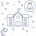building, education, learning, school, study icon