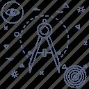 blueprint, design, draw, eye, graphic, precision, target icon