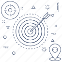 aims, location, target, vision icon