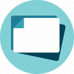blank, file, unknown, white paper icon