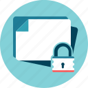 blank, file, locked, secure icon
