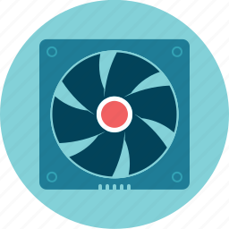 computer, cooler, fan, propeller icon