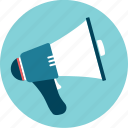 alert, announcement, communicate, megaphone, talk icon