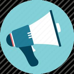 alert, announcement, communicate, megaphone, talk icon