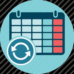 calendar, refresh, renew, update icon