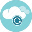 cloud, refresh, reload information, update icon