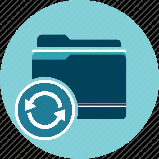 documents, folder, refresh, update icon