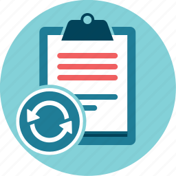 activity, performance check, refresh, tasks, to do list icon