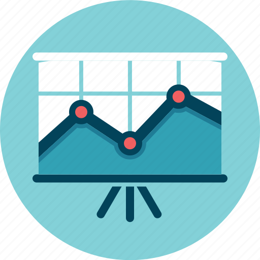 analytics, financial presentation, growth, outcome, results, stats icon