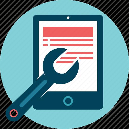 device, fix, maintenance, tablet icon