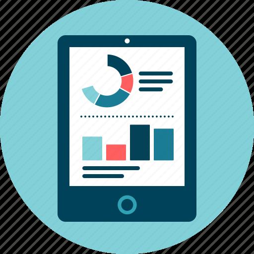 analysis, big data, control, dashboard, statistics, tablet icon