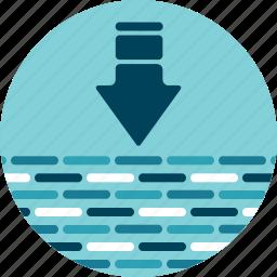 big data, data, data lake, download, get, import, pull icon
