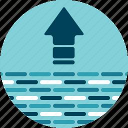 big data, data, data lake, export, push, put, upload icon