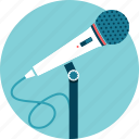 audio, microphone, presenter, speaker, talk, voice icon