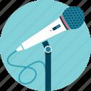 audio, microphone, presenter, speaker, talk, voice