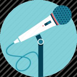 audio, microphone, presenter, speaker, talk, voice icon