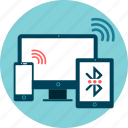 bluetooth, data, devices, share, transfer, wi-fi icon