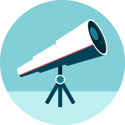 astronomy, find, focus, lenses, search, stars, telescope icon