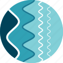 curves, electromagnetic, lines, waves icon