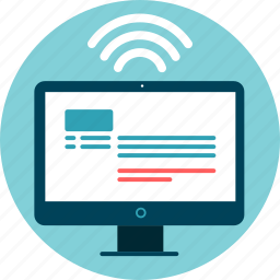 data transfer, desktop, share, wi-fi icon