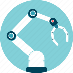 arm, automation, grip, industrialization, mechanical, production, robot icon