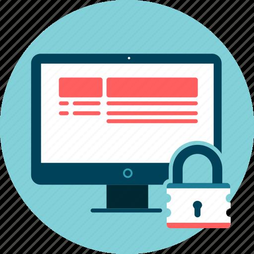 desktop, encrytpted, lock, screen, security icon