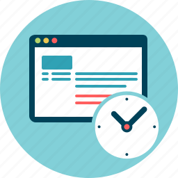 delay, log history, monitoring, period, plan, schedule icon