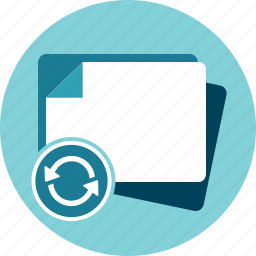 blank, document, papers, refresh, reload, reset icon