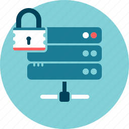 data security, encrypt, locked, secure, server icon