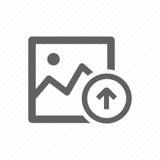 arrow, image, picture, up, upload icon
