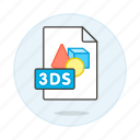 3ds, file, files, format, image icon