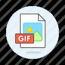 file, files, format, gif, image icon