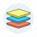 layers, edition, photo, picture, image, tools icon