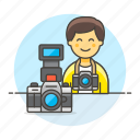 camera, dlsr, image, male, photographers, professional, reflex icon