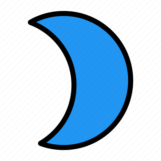 filter, moon, night, weather icon