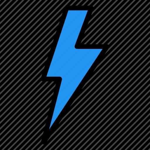 flash, lightning, thunder icon