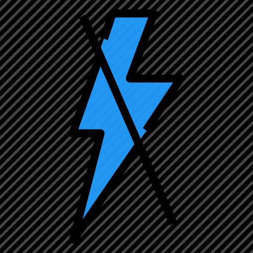 flash, lightning, off icon