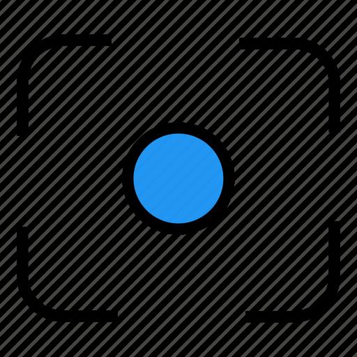 camera, filter center focus, focus icon