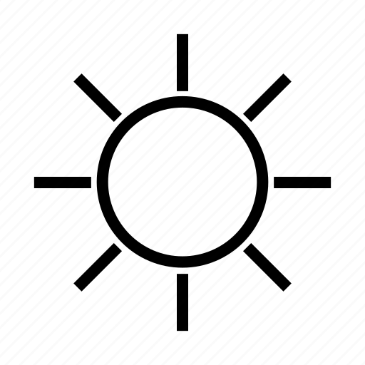 brightness, gallery, image, photo, picture, sun, weather icon