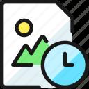 image, file, clock