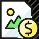 image, file, dollar