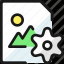 image, file, settings